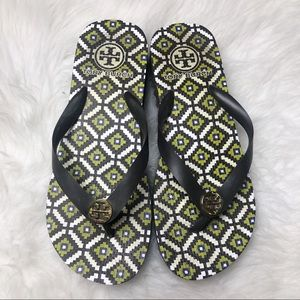 Tory Burch elevated wedge sandals NWOT flip flops